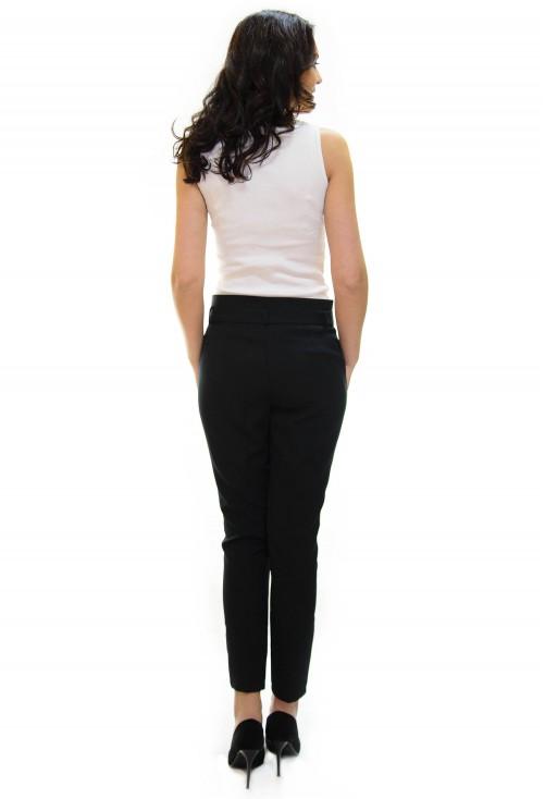 Pantaloni Straight Detail Black