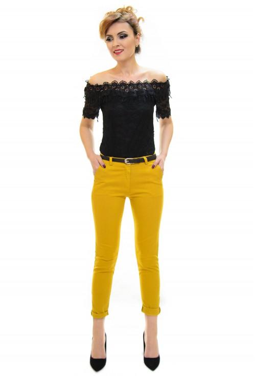 Pantaloni Forward Step Mustard