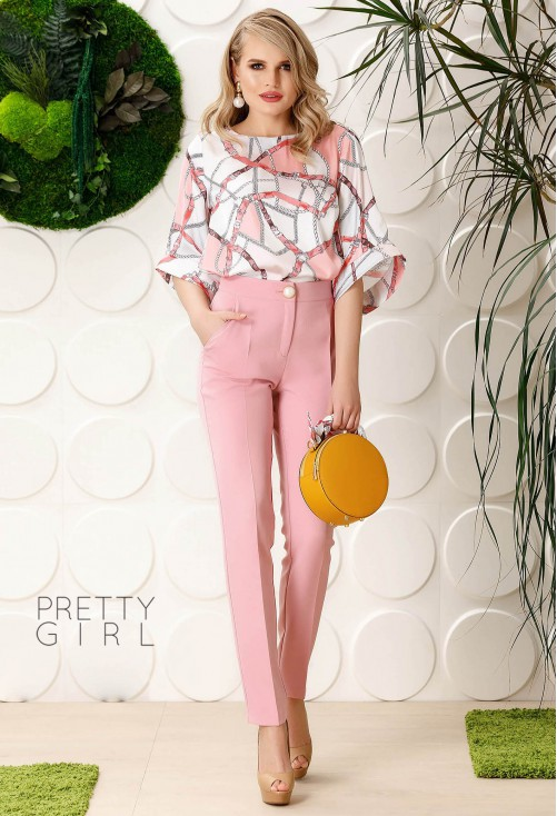 Pantaloni Pretty Girl Front Space Pink