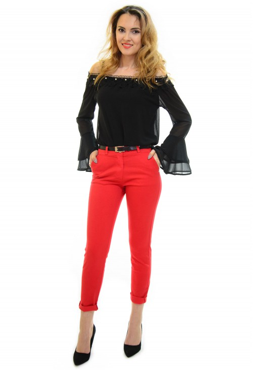 Pantaloni Flattering Image Red