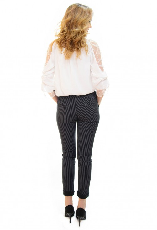 Pantaloni Side Line Black