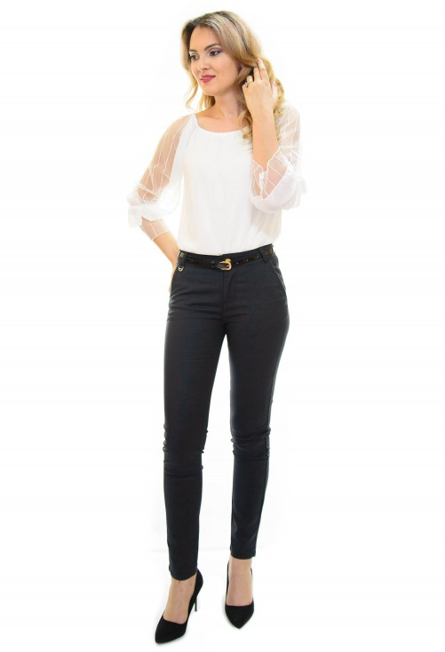 Pantaloni On Detail Black