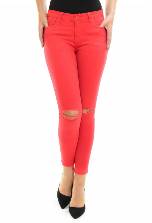 Blugi Shiny Design Red