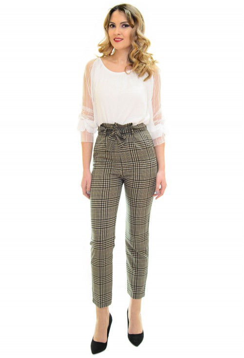 Pantaloni Ziddy Lines Beige