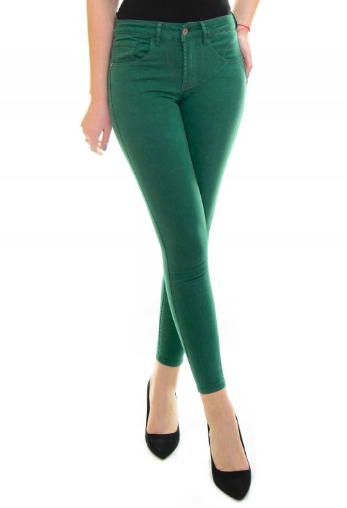 Blugi Skinny Color Green