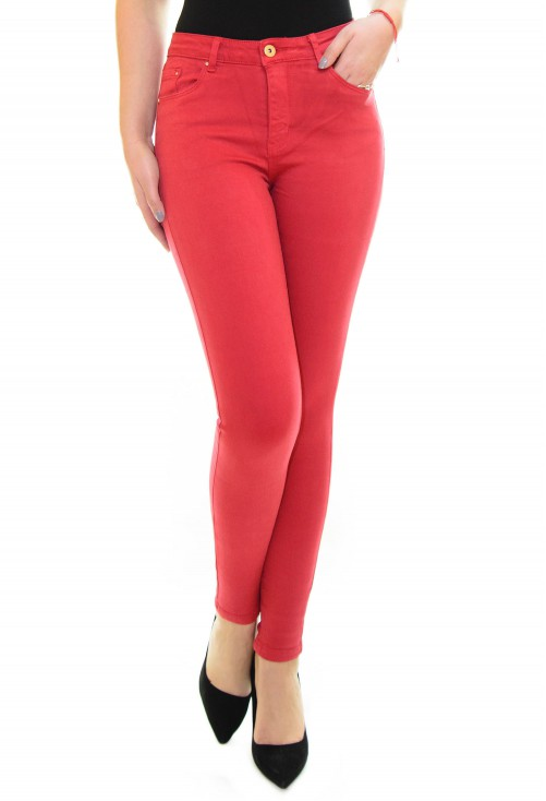 Blugi Skinny Color Red