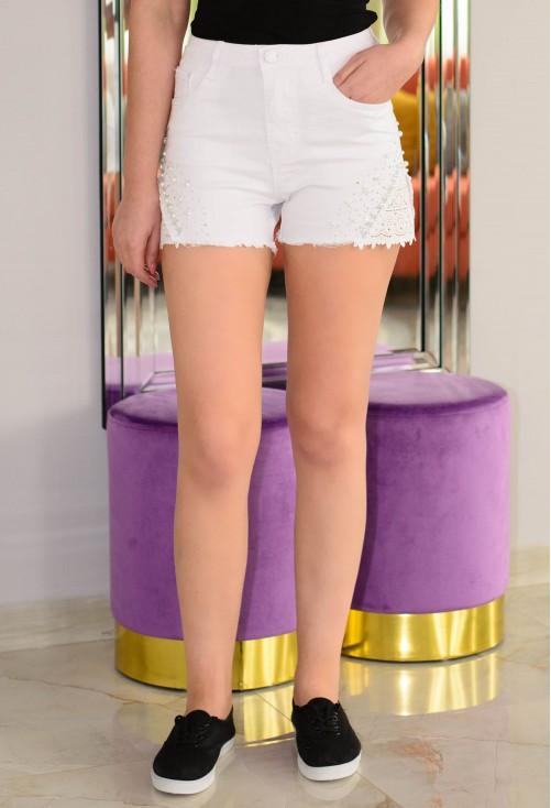 Pantaloni Scurti Princess Style White