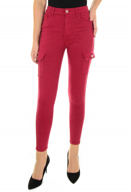 Blugi Lateral Hit Burgundy