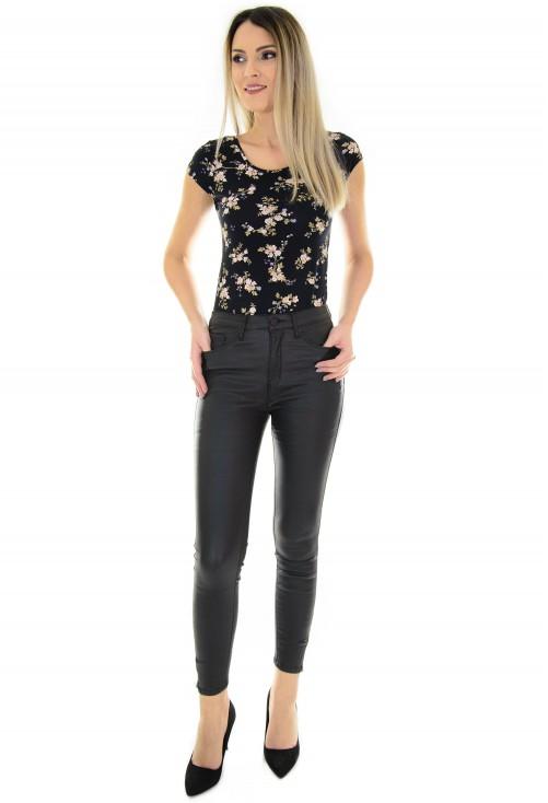 Pantaloni Waxed Style Black