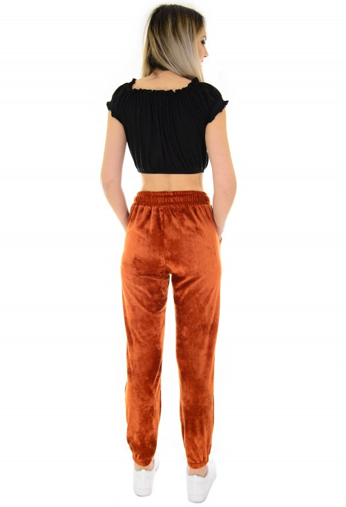 Pantaloni Winter Velvet Brown