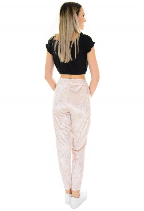 Pantaloni Wave Velvet Pink