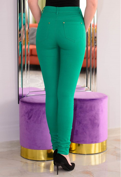 Blugi Top Waist Green