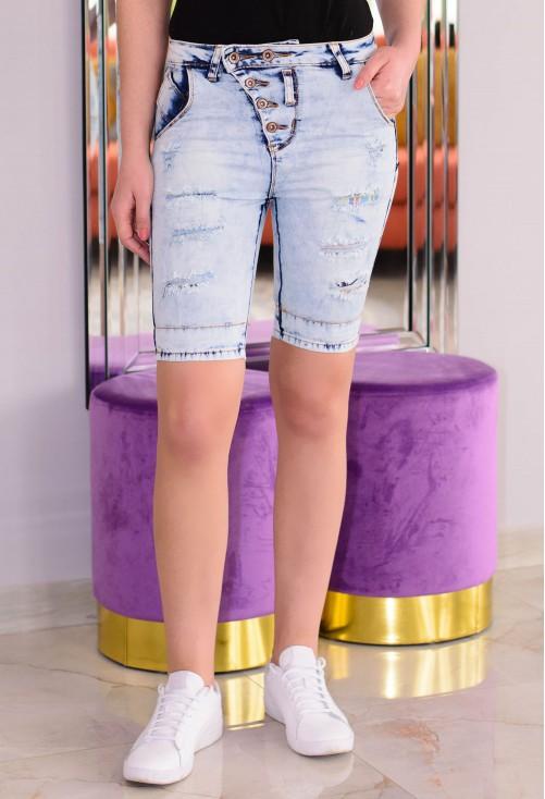 Pantaloni Scurti High Buttons