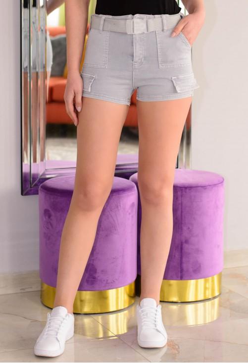 Pantaloni Scurti Big Pockets Grey