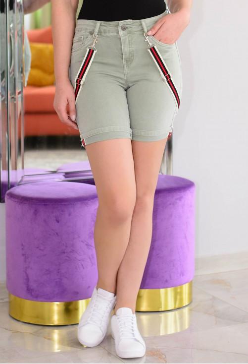 Pantaloni Scurti Dynamic Stripes Green