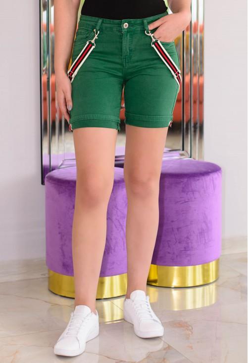 Pantaloni Scurti Dynamic Stripes Forest Green