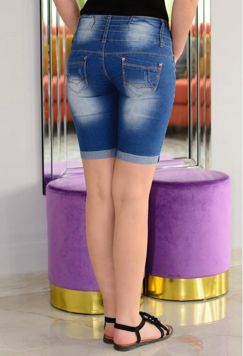Pantaloni Scurti Lovely Buttons Blue