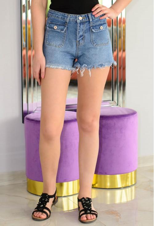 Pantaloni Scurti Fashion Stream Blue