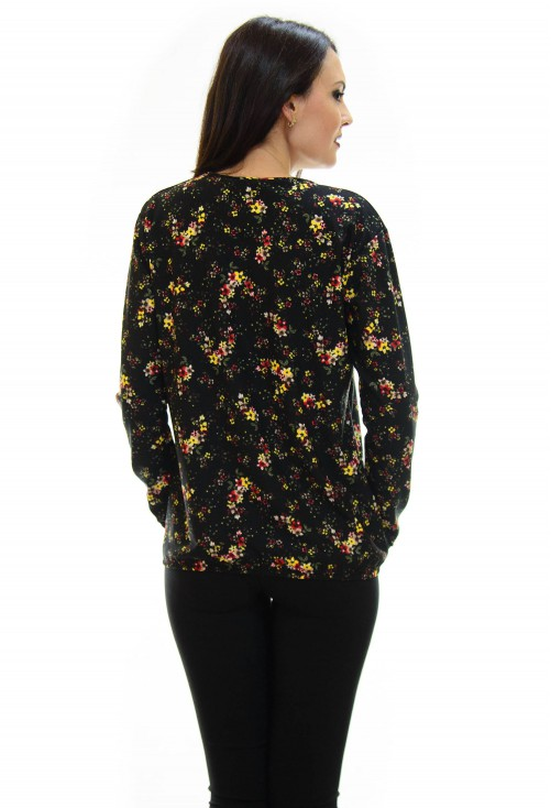 Bluza Small Flowers Black