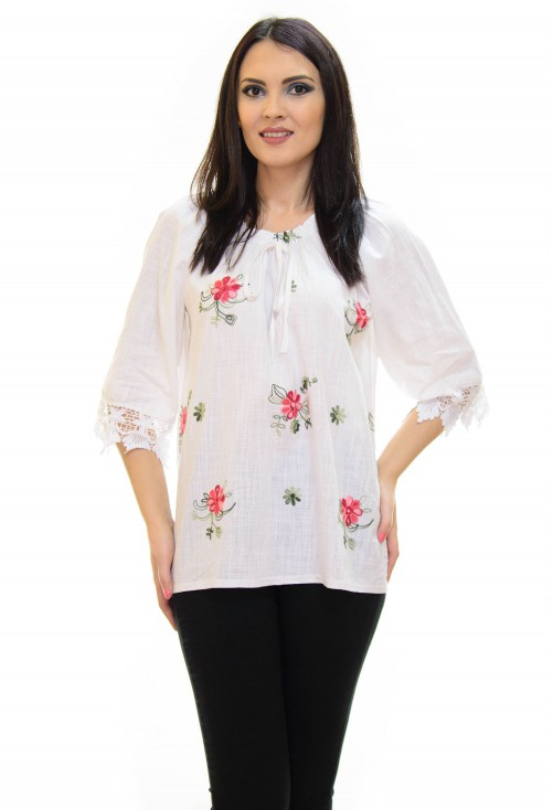 Bluza On Touch Flowers White
