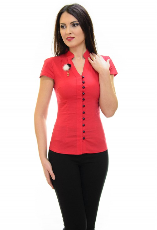 Camasa Fluff Buttons Red