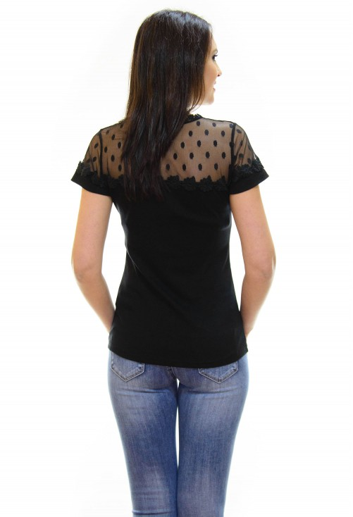 Tricou Lace Unread Black
