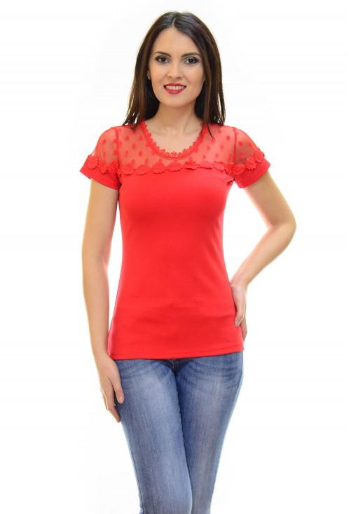 Tricou Lace Unread Red