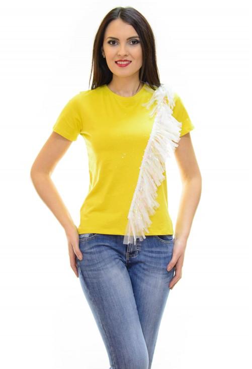 Tricou Flash Tulle Mustard