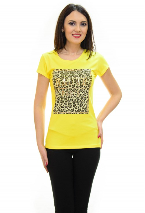 Tricou Haute Couture Yellow