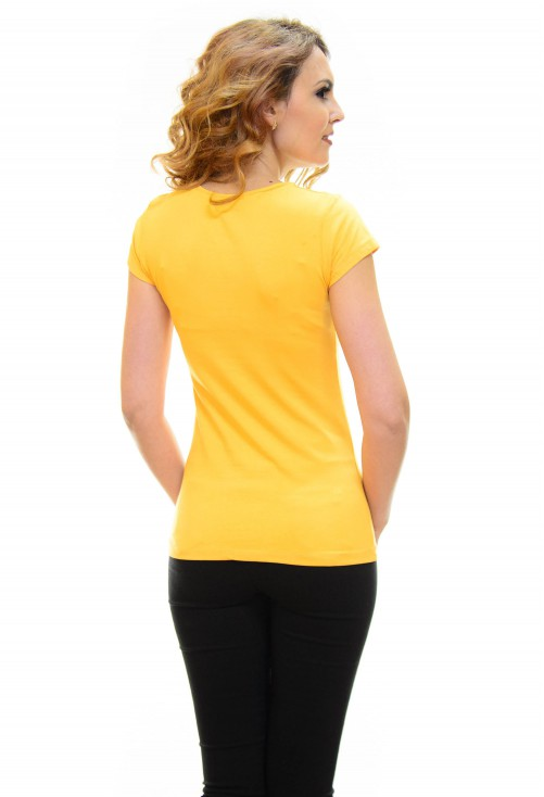 Tricou Mind On Vogue Mustard