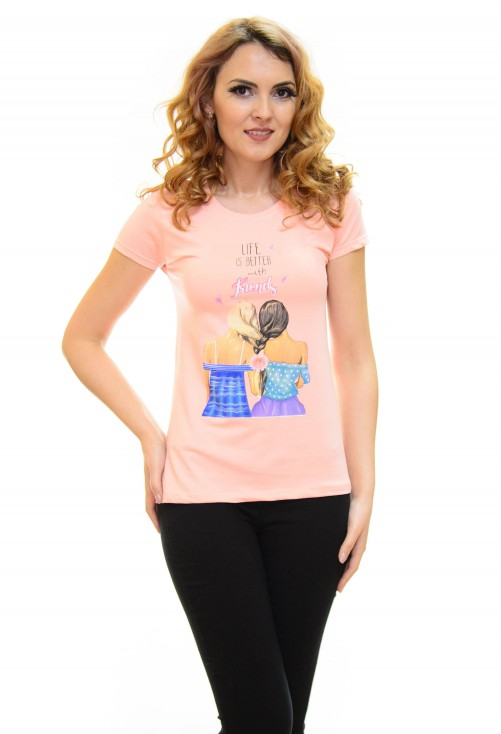 Tricou Better Life Peach