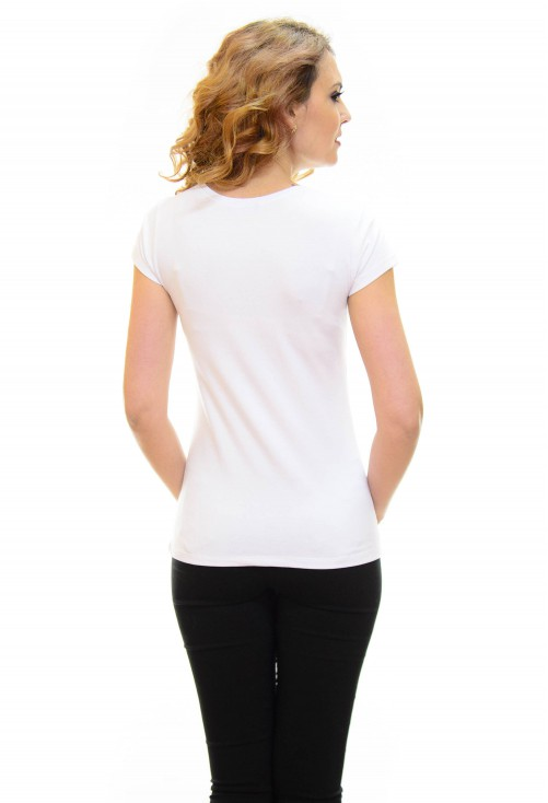 Tricou High Print White