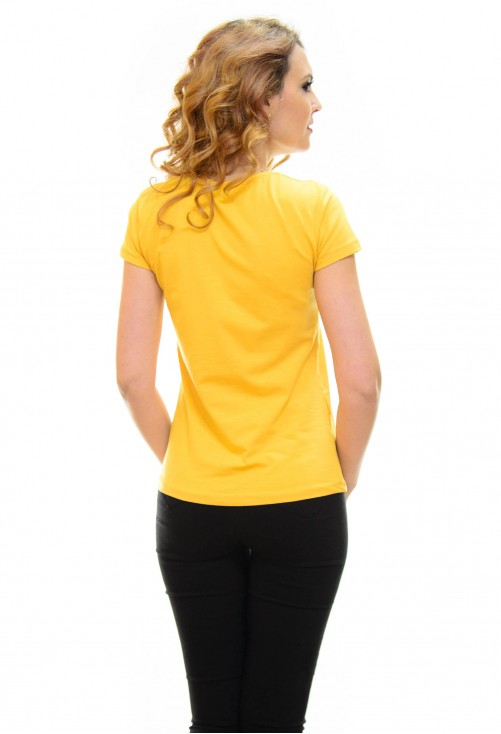 Tricou Mouse Family Mustard