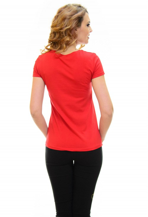 Tricou Mouse Family Red