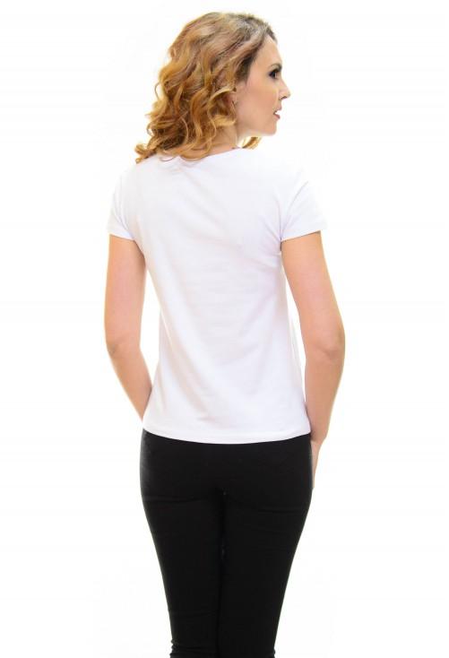 Tricou Fashion Book White