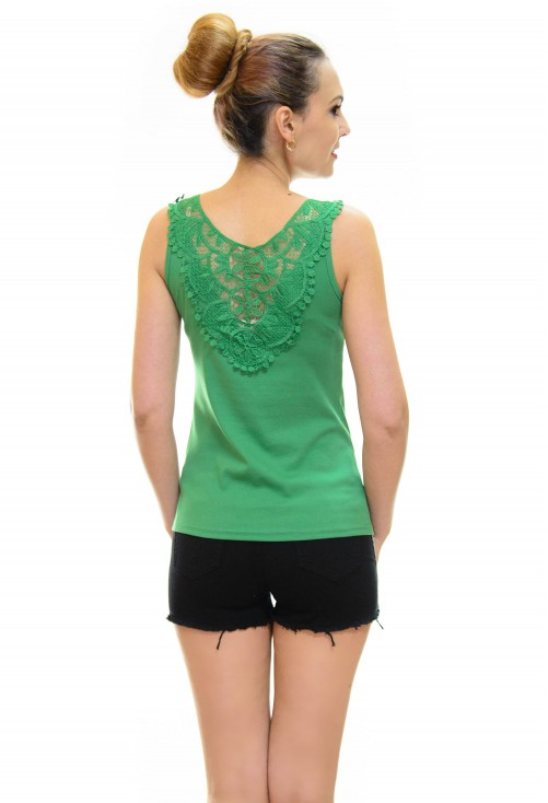 Top Cristal Lace Green