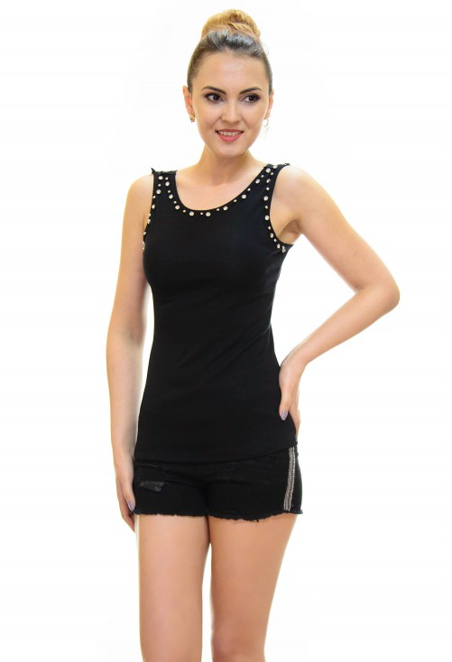 Top Cristal Lace Black