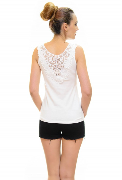Top Cristal Lace White