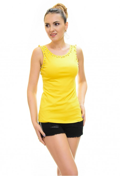 Top Cristal Lace Yellow
