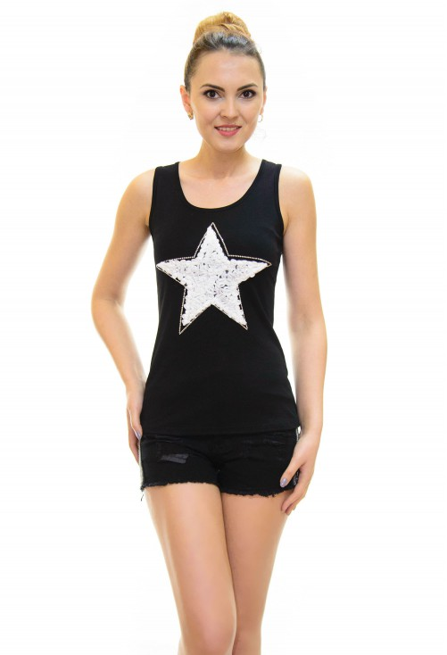 Top Little Star Black