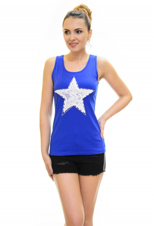Top Little Star Royal Blue