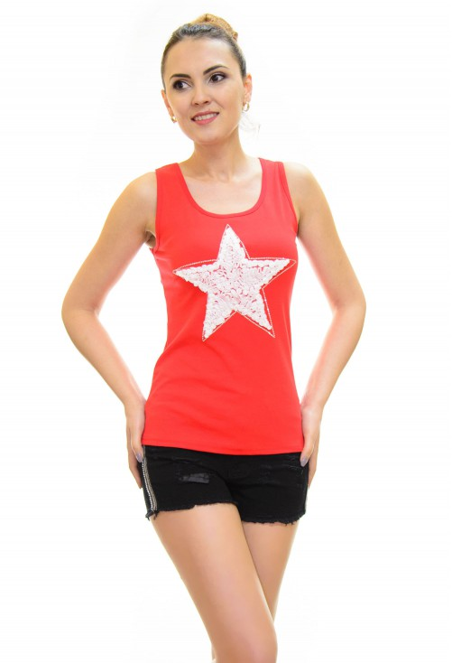 Top Little Star Red
