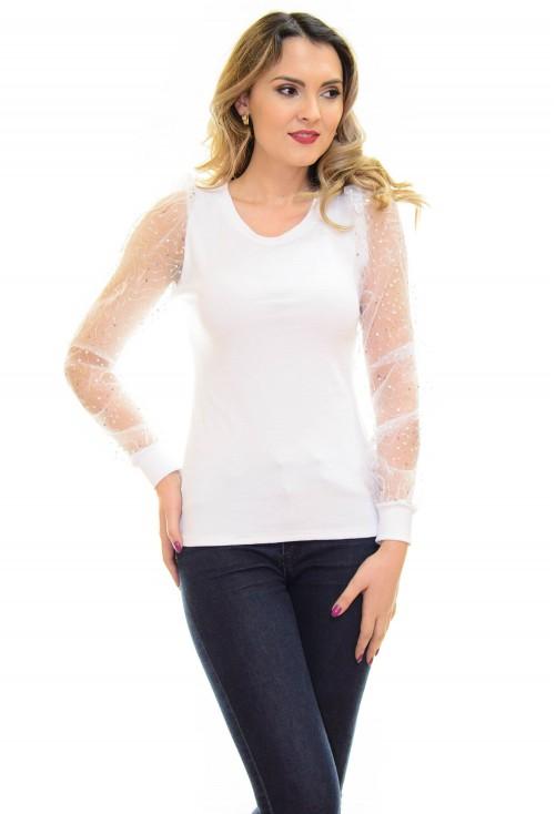 Bluza Shimmer Texture White