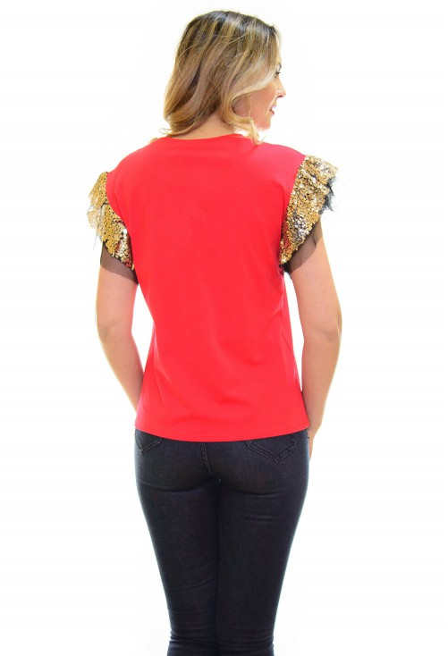 Tricou Gold Vague Red