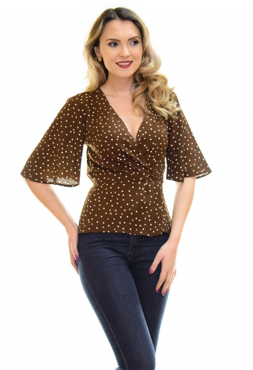Bluza Fantastic Dots Brown