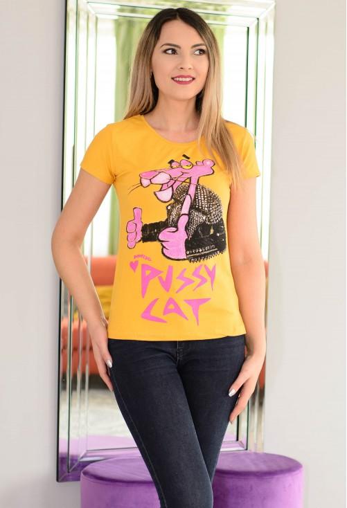 Tricou Pink Phanter Mustard
