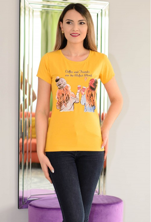 Tricou Perfect Blend Mustard