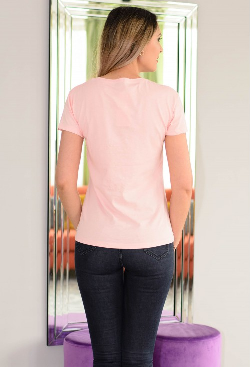 Tricou Wish Me Luck Pink