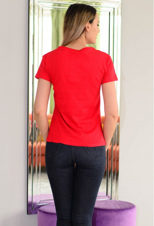 Tricou Wish Me Luck Red