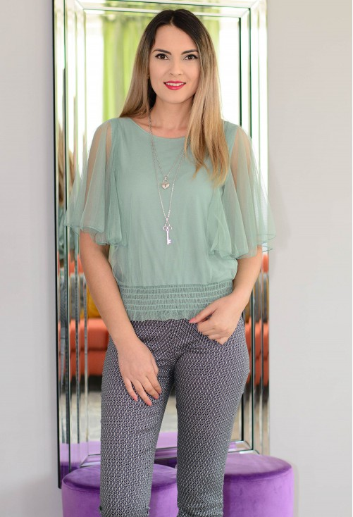 Bluza Festive Time Teal